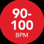 90-100